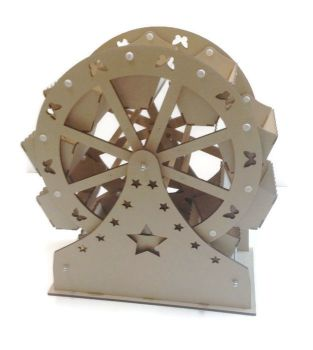 Sweet Ferris Wheel Wooden 8 Buckets Weddings Birthdays 500mm
