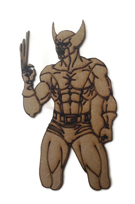 Wolverine Figure 100mm - 500mm, 4mm Thick