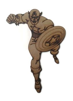 Captain America Figure 100mm - 500mm, 4mm Thick