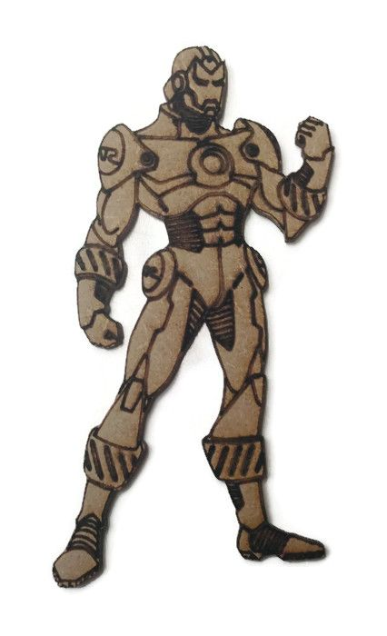 Ironman Figure 100mm - 500mm, 4mm Thick