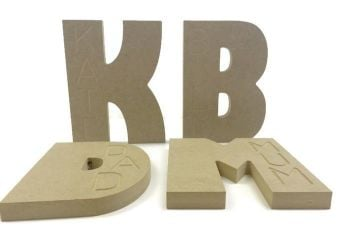 Wooden Name Engraved Letters, 18mm Thick