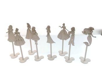 MDF Wooden Standing Table Numbers, Disney Characters