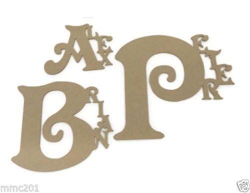 Victorian Wooden Custom Name Plaques
