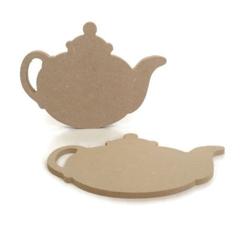 MDF Wooden Teapot 6mm or 15mm Thick