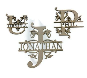 Personalised Wooden MDF Monogram Letters