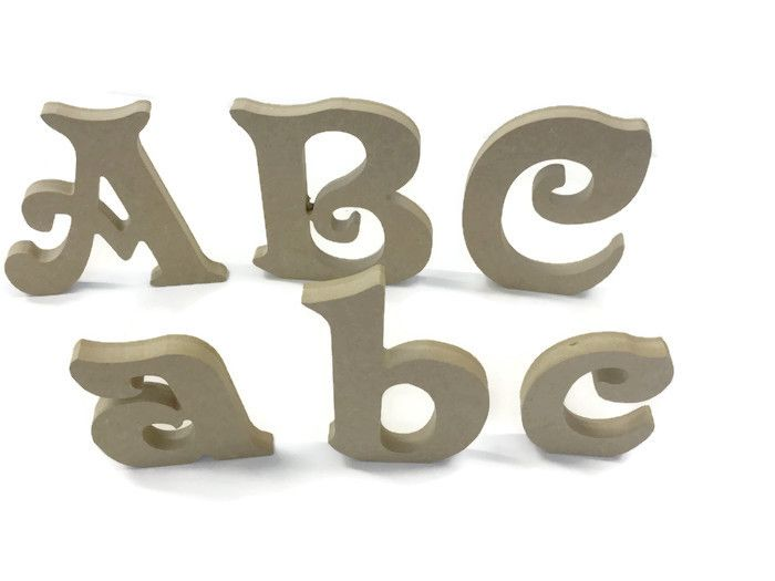Wooden Letters, MDF / Plywood