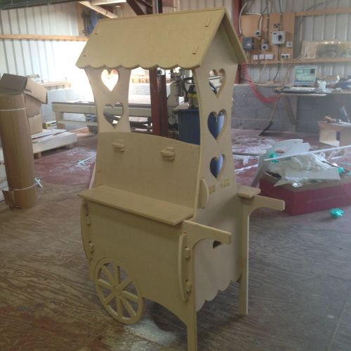 Large Candy Cart (Unique Hinged System)