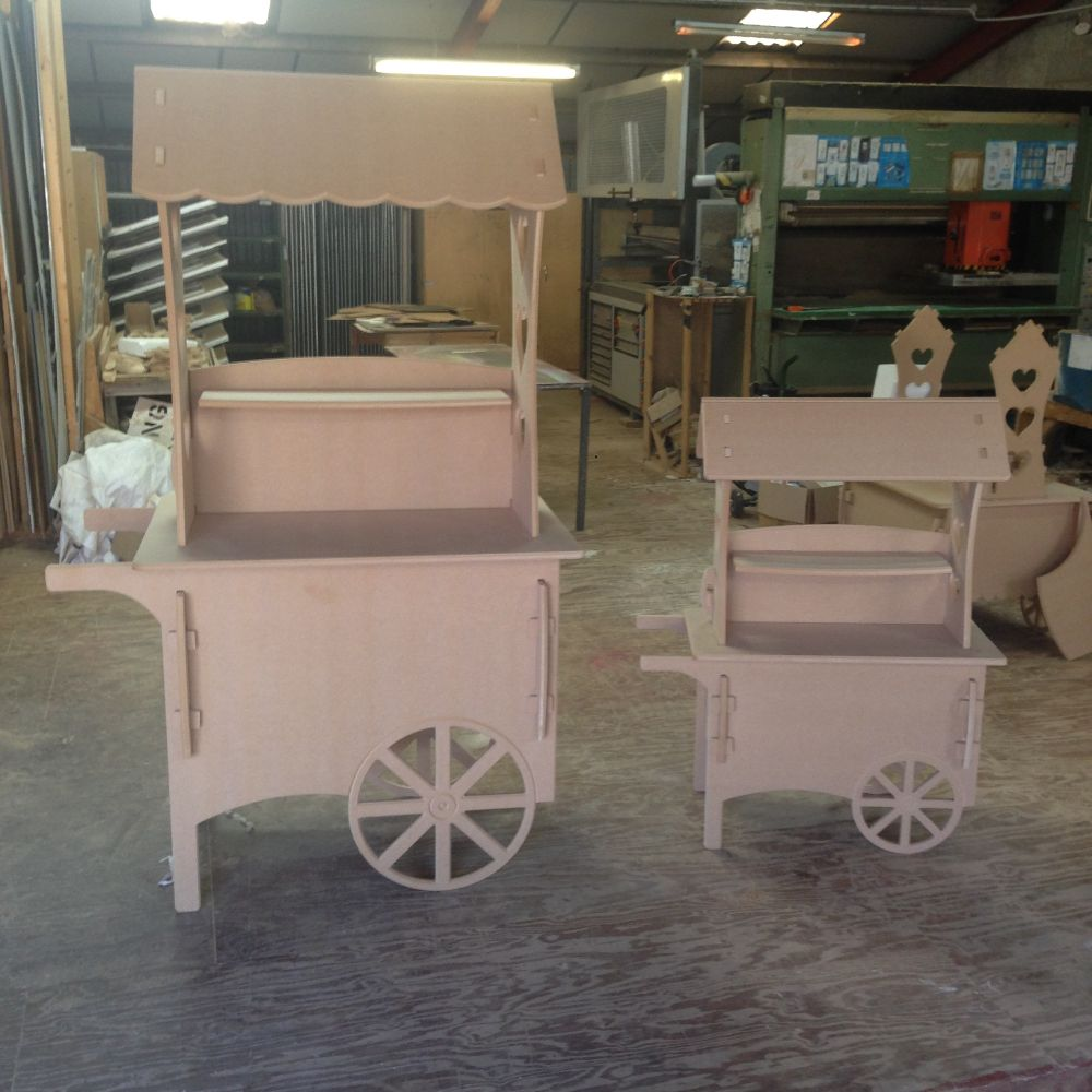 Wooden Candy Carts