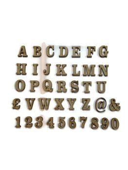 3mm Thick Wooden MDF Georgian Letters / Numbers, 2cm - 10cm sizes