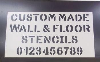 Custom PVC Floor / Wall / Pavement / Doors / Concrete Stencil Signs Airbrush