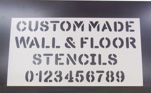 Custom PVC Floor / Wall / Pavement / Doors / Concrete Stencil Signs Airbrus