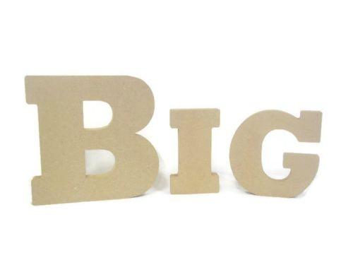 HUGE Freestanding / Hanging MDF Wooden Alphabet Huge Chunky Letters & Numbe