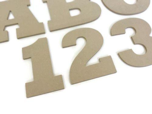 HUGE Hanging MDF Wooden Huge Alphabet Letters & Numbers, 6mm Thick