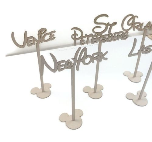 MDF Wooden Wedding, Party Standing Table Stands, Disney Font Names