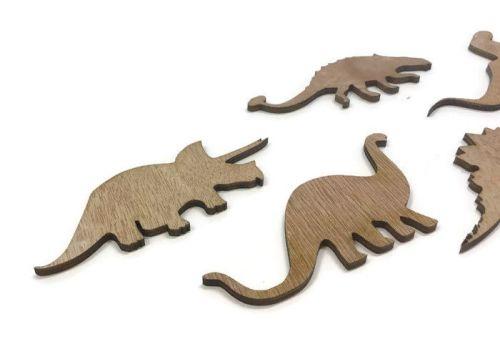 Wooden Plywood 5 x Dinosaur Shapes