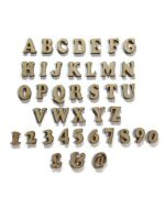 Wooden MDF Cooper Black Letters / Numbers, 2cm - 10cm sizes