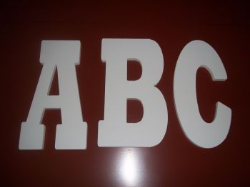 PVC 19mm thick Alphabet Letters & Numbers Rockwell Font