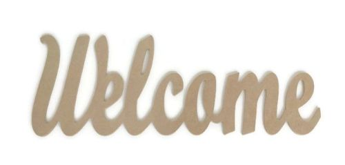 MDF Script Letters Word 'Welcome' Joined