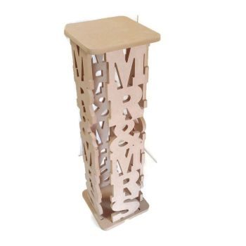 MDF Wooden MR & MRS Table Cake Stand