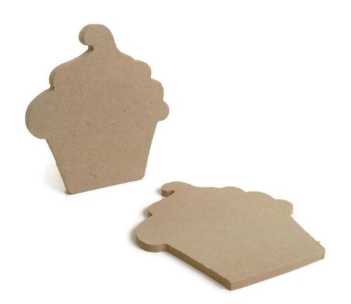 MDF Wooden Cupcake 6mm or 15mm Thick