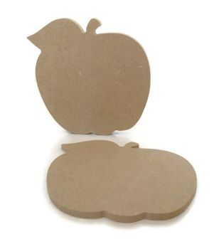 MDF Wooden Apple 6mm or 15mm Thick