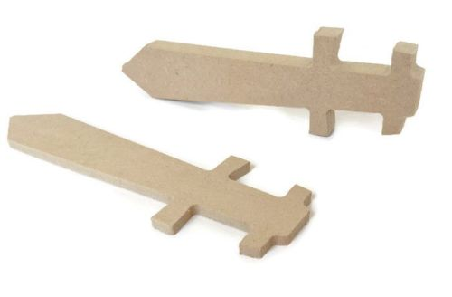 MDF Wooden Sword 6mm or 15mm Thick