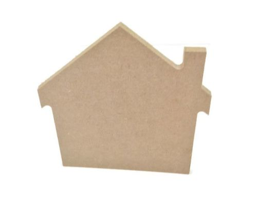 MDF Wooden House 6mm or 15mm Thick