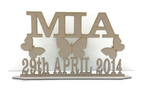 MDF Wooden Personalised Birthday / Name Stand, Various Sizes And Variations