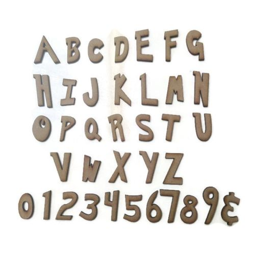 Wooden MDF Pokemon Letters / Numbers, 2cm - 10cm sizes