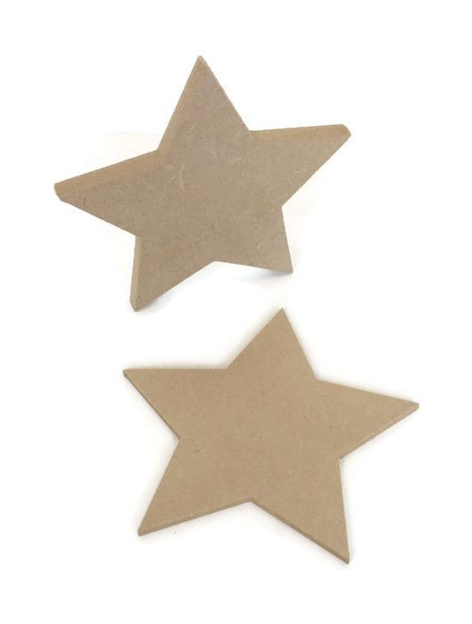 MDF Wooden Star 6mm or 15mm Thick