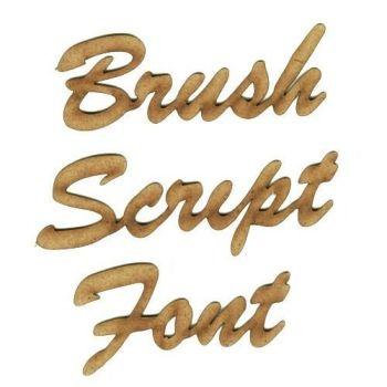 MDF Wooden Script / Cursive Words & Names 25mm High, Wedding Book Door Wall
