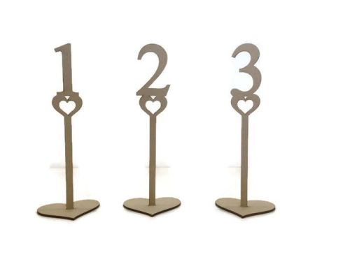 MDF Wooden Wedding, Party Standing Table Numbers, Georgia Font