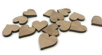 Wooden Plywood 35mm Hearts, 25-100 Quantity 4mm Thick