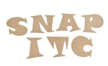 MDF Wooden Letters 6mm thick, Funky Chunky Font!