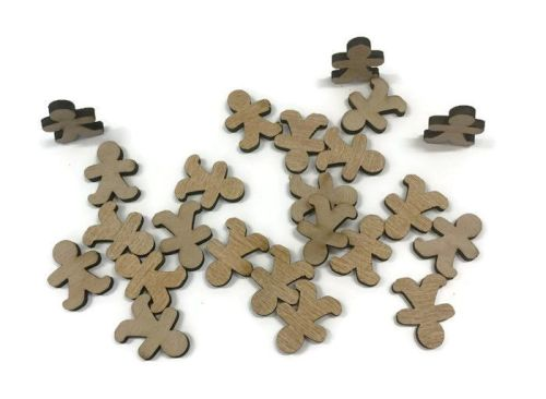 Wooden Plywood 35mm Gingerbread Men, 25-100 Quantity 4mm Thick