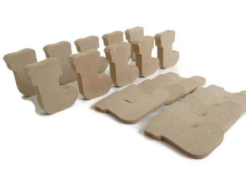 10 x MDF Wooden Stocking Shapes 6mm 15mm Thick
