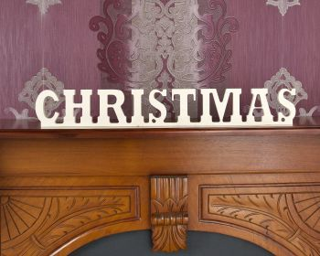 Freestanding / Hanging Wooden Plywood Letters Christmas Joined