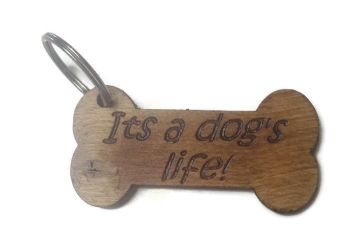 Personalised Keyrings Wooden Bone