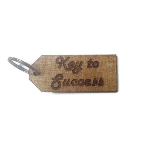 Personalised Keyrings Wooden Key To Success