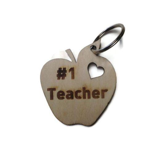 Personalised Keyrings Wooden Apple