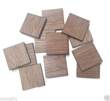 Wooden Plywood 35mm Squares, 25-100 Quantity 4mm Thick