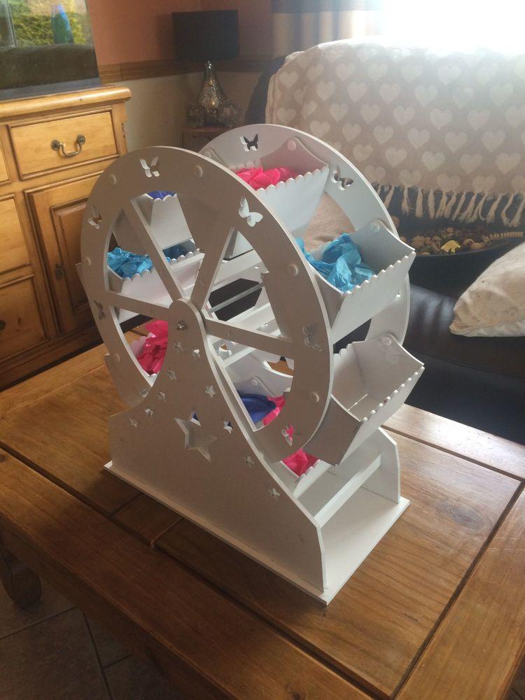 Sweet Ferris Wheel Wooden 8 Buckets Weddings Birthdays 500mm Painted White