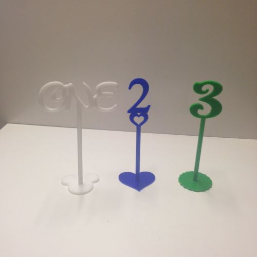 Coloured Plastic Wedding Birthday Table Numbers Various Sizes Syles & Colou