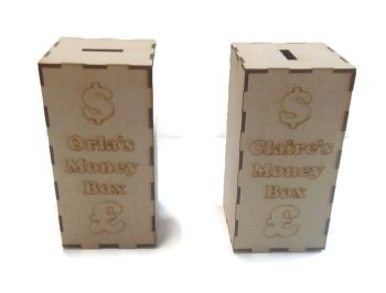 MDF Wooden Personalised Money Box