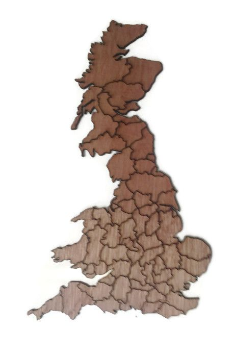 Countries Of The World, Wooden Plywood Plaques, Britain