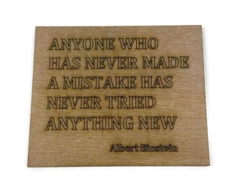 Wooden Plywood Engraved Quotes / Names - Einstein