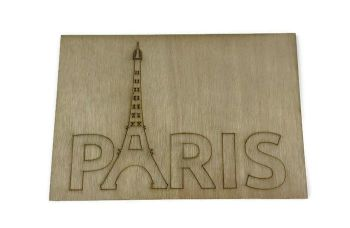 Wooden Plywood Engraved Quotes / Names - Paris