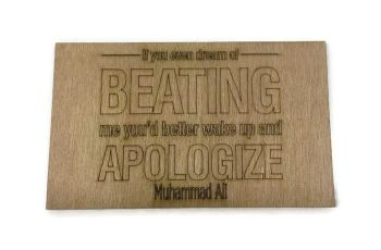 Wooden Plywood Engraved Quotes / Names - Ali