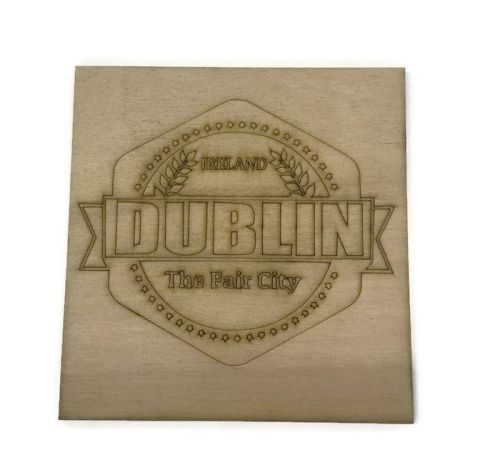 Wooden Plywood Engraved Quotes / Names - Dublin