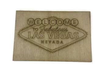 Wooden Plywood Engraved Quotes / Names - Las Vegas
